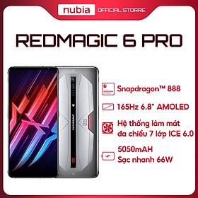 Redmagic 6 Pro 5G 16GB l 256GB - Điện Thoại Gaming Chiến Game Cực Đỉnh - Màn hình AMOLED 6,8 Inches- Snapdragon 888 - Pin 4500mAh - Sạc nhanh 120W - Hàng Chính Hãng
