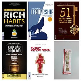 Combo Bộ sách: Tư duy khác biệt làm nên người lãnh đạo xuất sắc (tặng bookmark kim loại mạ vàng)