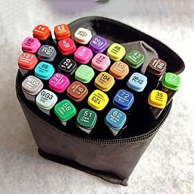 Bộ Bút Marker Túi Vải nhiều màu Vẽ Chuyên Nghiệp
