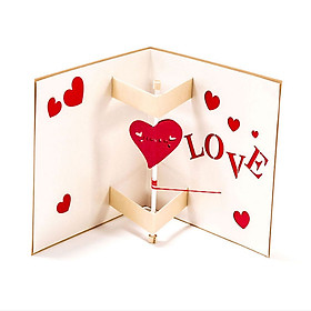 Pop Up Card Greeting Cards Surprised 3D Paper LOVE Handmade