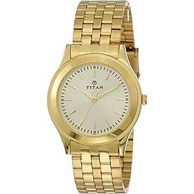Titan Men's Analog Gold Dial Watch
