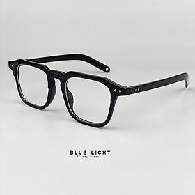 Kính Giả Cận, Gọng Kính Cận Nam Nữ Mắt Vuông Gọng Nhựa Cá Tính Đen Không Độ Hàn Quốc - BLUE LIGHT SHOP
