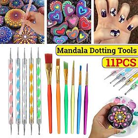 Mandala Dotting Tools Set Rock Painting Kit Nail Art Pen Paint Stencil Professional Dotting Tools Recommend Learner