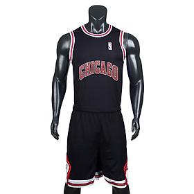 Bộ quần áo bóng rổ Chicago - Đen