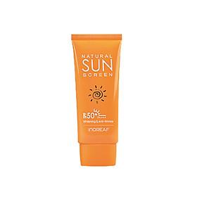 Kem chống nắng dưỡng trắng da BEBECO  Hàn Quốc INOREAF NATURAL SUN SCREEN SPF50+ PA+++