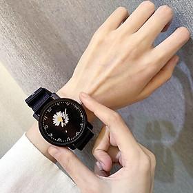Đồng hồ thời trang nam nữ dây dù hoa cúc cá tính cực hót DH105
