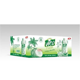 Thùng 24 hộp Nước dừa xiêm VICO FRESH (330ml / hộp)