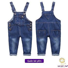 Quần yếm cho bé quần yếm bé trai yếm jean bé gái quần dài yếm trẻ em phong cách HQ hàng QC