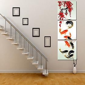 Tranh Canvas treo tường nghệ thuật | Tranh bộ nghệ thuật 3 bức | HLB_252