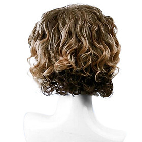 High-temperature Synthetic Fiber Wigs for Men Short Gold Hairpiece Natural Matte Hair Wig