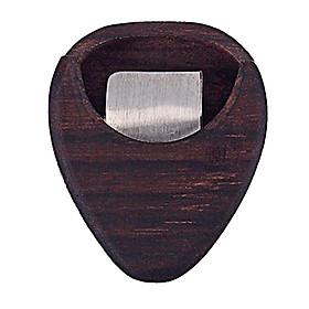 Wooden Guitar Pick Plectrum Box Case Grids Guitar Part Accessories