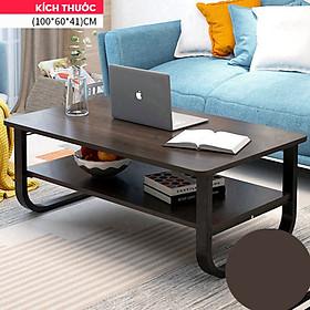 Bàn sofa hiện đại 2 tầng mặt chữ nhật gỗ MDF kích thước 100x60x41