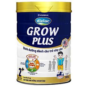 Sữa Bột Vinamilk Dielac Grow Plus 2+ - Xanh Hộp Thiếc 900g