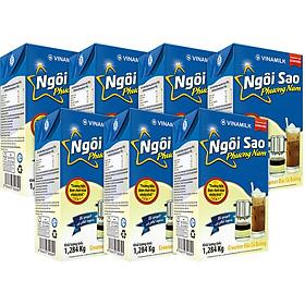 Thùng 12 Hộp Kem Sữa Đặc Ngôi Sao Phương Nam Xanh Dương - 1284g