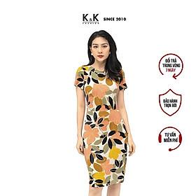 Đầm Công Sở Ôm Body Họa Tiết Hoa K&K Fashion HL17-01 Chất Vải Thun Lạnh