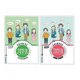 Combo 2 cuốn Joyful Chinese - Vui Học Tiếng Trung - Ngữ Pháp+Tập Viết Chữ Hán ( Tặng kèm bookmark Happy Life)