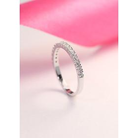 Nhẫn bạc nữ đẹp đính đá tinh tế NN0185