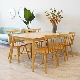 Bộ bàn ăn 4 ghế 6 ghế 7 nan giá rẻ