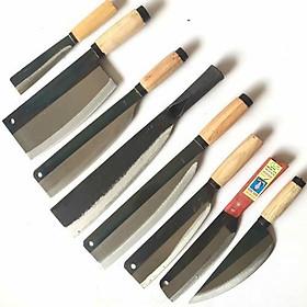 Bộ dao 8 món cao cấp nhà bếp C45 , độ bén và độ bền cao , Hàng dao tông cán sắt,