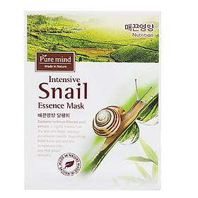 Hình thu nhỏ Mặt Nạ Ốc Sên Pure Mind Intensive Snail Essence Mask