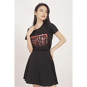 Áo thun nữ GUMAC thiết kế in chữ Beautiful ATA512