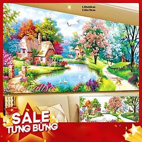 Tranh đính đá Phong Cảnh ia8164 120x60cm