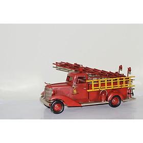 Mô hình xe cứu hỏa trưng bày/ Vintage Metal Fire Truck Handmade Decoration (1904D-1654)