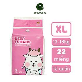 Tã/Bỉm quần bé gái Enblanc Keep Friends nội địa Hàn quốc (mẫu mới 2020) size L/XL/XXL