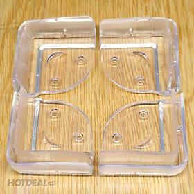 Bộ 4 miếng silicon bọc cạnh bàn (3.5 x 2 cm) bảo vệ bé yêu tránh va đập vào góc bàn sắc nhọn