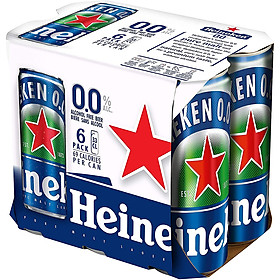 Lốc 6 Lon Heineken 0.0 (6 Lon x 330ml)