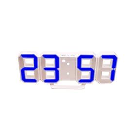 Timepiece Alarm Clock Multi-Functional Mirror Surface 3D Gift Kitchen