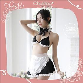 Cosplay Hầu Gái - Bộ Đồ Lót Nữ Sexy - Bộ Cosplay Hầu Gái Bikini Đen Trắng Sexy Cute - CPL02 - Chubby.sexy