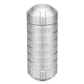 Hộp Khóa Mật Mã Cryptex CNC Bạc (12.5 x 4.8cm)