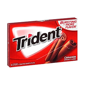 Lốc 12 thanh kẹo Gum Trident Cinnamon vị Quế (14 viên - Sugarfree)