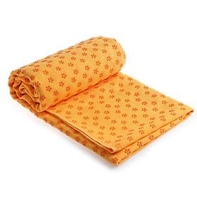 Yoga Mat Non-Slip Towel Fitness Mat Yoga Blanket Cushion Towel PVC Plum Blossom Yoga Towel