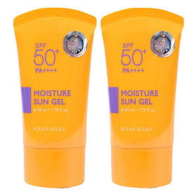 Combo 2 kem chống nắng dưỡng da trắng mịn Holika Holika moisture sun gel SPF50+ PA++++ 50ml