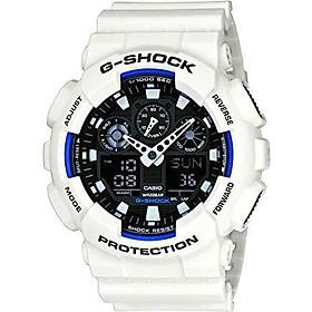 Casio Men's XL Series G-Shock Quartz 200M WR Shock Resistant Resin Color: White (Model GA-100B-7ACR)