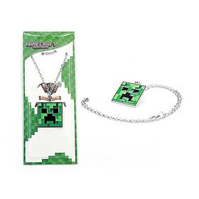 Dây chuyền Creeper Minecraft-0