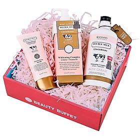 Bộ Sản Phẩm Dưỡng Trắng Body Toàn Diện Beauty Buffet Scentio Double Milk Triple White