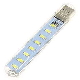 Đèn Led Thanh 8 Bóng Để Bàn Đầu Gắn Ngõ USB Dự Phòng 4W (0.5W/led) Siêu Sáng