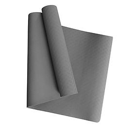 Thảm Yoga MIKIE MAT GREY LOVE 1 màu - TPE nguyên khối - Dày 6mm - Thành phần cao su non tự nhiên - Chống trượt, Không mùi
