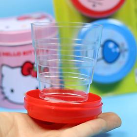 Ly, cốc uống nước  có thể gấp gọn dùng đi học, đi làm, đi chơi tiện dụng và sạch sẽ