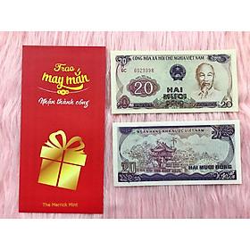 Tờ tiền 20 đồng 1985 , 20 Đồng chùa Một Cột Hà Nội , tiền cổ Việt Nam sau giải phóng đã hết lưu hành - tặng kèm bao lì xì đỏ - The Merrick Mint