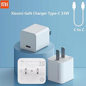 Bộ sạc Xiaomi GaN Type-C 33W 3A MAX Fast C to C