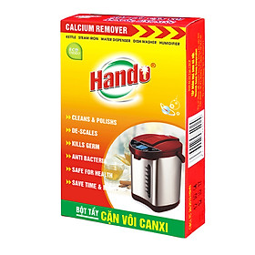 Hộp 2 gói bột tẩy cặn canxi cây nước, ấm đun nước, bình nóng lạnh Hando