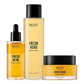 Combo 3 Sản Phẩm Chăm Sóc Da NACIFIC Fresh Herb Origin Serum+Toner+Cream SET