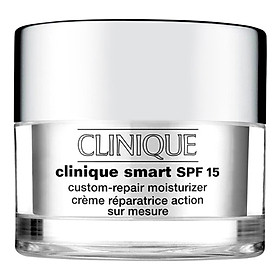 Hình đại diện sản phẩm Kem dưỡng ban ngày dành cho da khô và hỗn hợp Clinique Smart Broad Spectrum SPF15 Custom-Repair Moisturizer 50ml