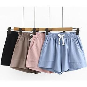 (FLASH SALE) Quần short, quần đùi nữ vải đũi siêu mát , nhẹ nhàng, thấm hút mồ hôi cực tốt!!!