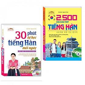 Combo Sách Học Tiếng Hàn: 30 Phút Tự Học Tiếng Hàn Mỗi Ngày + 2500 Câu Giao Tiếp Tiếng Hàn-Tặng Bookmark PĐ