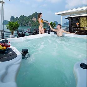 Tour Trọn Gói 2N1Đ Ngủ Đêm Trên Du Thuyền Hạ Long Athena Royal Cruises 5 Sao Sang Chảnh, có Bể Bơi, Gồm Ăn 04 Bữa, Miễn Phí Chèo thuyền Kayak, Câu Mực Đêm